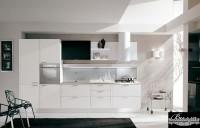 Кухня краска белые фасады