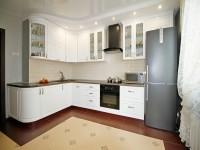 Кухня краска белый угловая