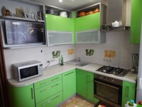 Кухня краска зеленый