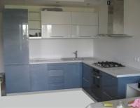 Кухня краска серо-голубой