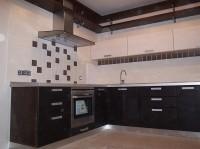 Кухня краска темная