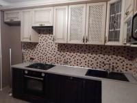 Кухня массив бежево-коричневый-