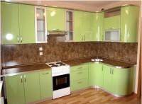 Кухня фасады пластик светло-зеленый