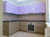 Кухня CLEAF+сиреневый глянец