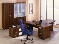 Мебель для офиса темный дуб