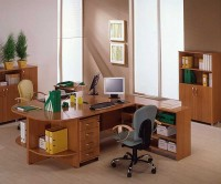 Светлая мебель для офиса
